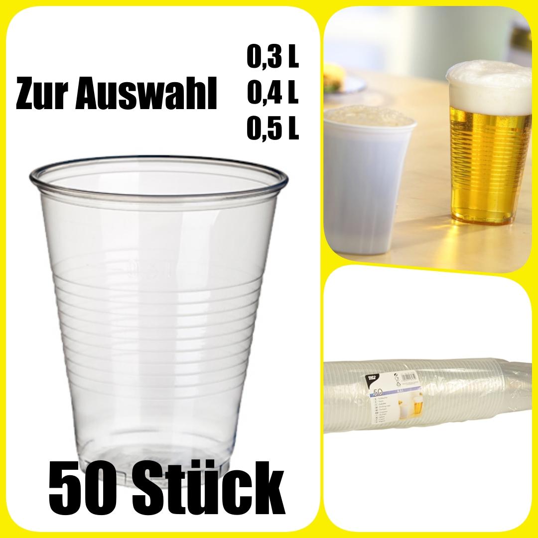 Ausschankbecher Bierbecher Trinkbecher 400 PP Becher klar Plastik 400ml